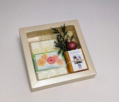 Geschenkset mit Sima's Badeschokolade Ringelblume und der Apothekergartenseife