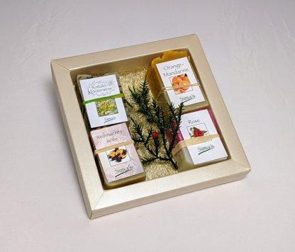 Simadretto Geschenkset Seifen klein mit 4 verschiedenen Seifen zu je 65 gramm