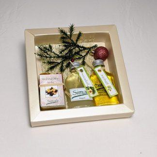 Geschenkset mit 2 verschiedenen Ölen und einer Seife 65 gramm
