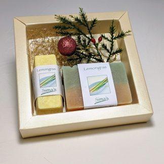 Geschenkset mit Sima's Körperbutter Lemongras und der Seife Lemongras