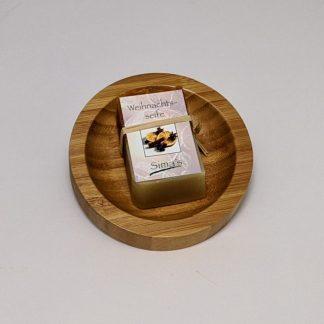 Sima' s Weihnachts Seife mit Seifenablage rund