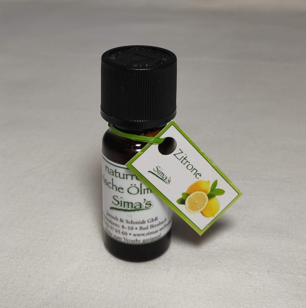 Sima's ätherisches Öl Zitrone, 100 % naturrein und Bioqualität