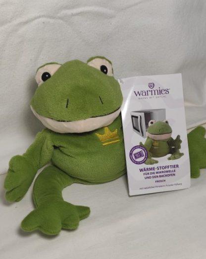 Wärmekissen: Warmies ® Wärme-Stofftier für die Mikrowelle -Frosch