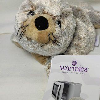Wärmekissen: Warmies ® Wärme-Stofftier für die Mikrowelle -Robbe